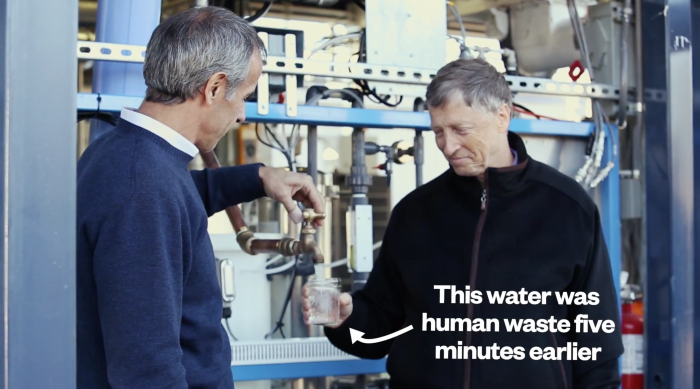 Equipamento transforma fezes humanas em água potável