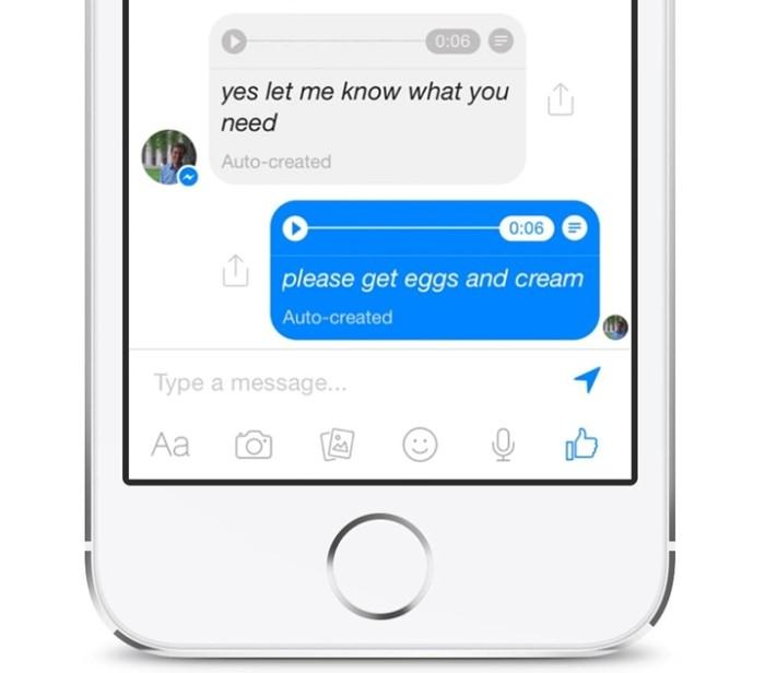 Facebook Messenger - voz para textoFacebook Messenger - voz para texto