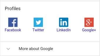 Google Knowledge Graph começa a exibir perfis de marcas em redes sociais e3242e4aac