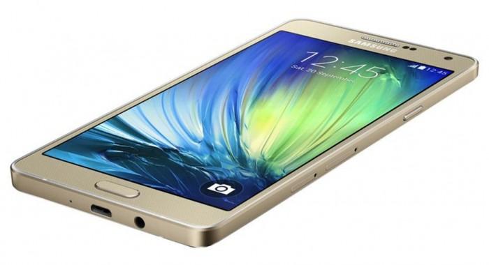 Galaxy A7 dourado