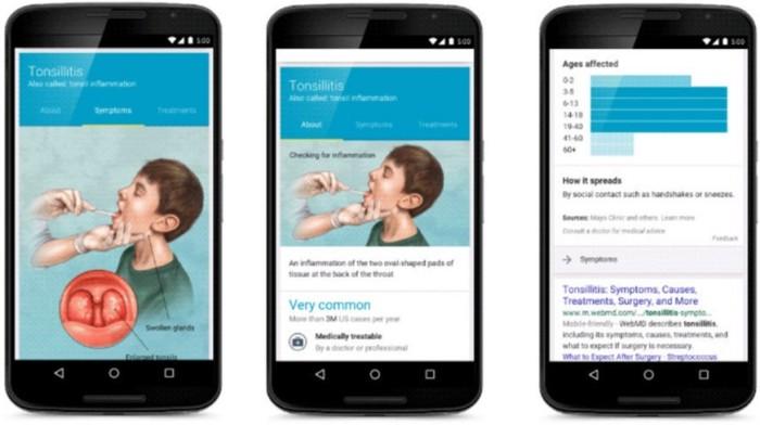 Google exibirá informações médicas