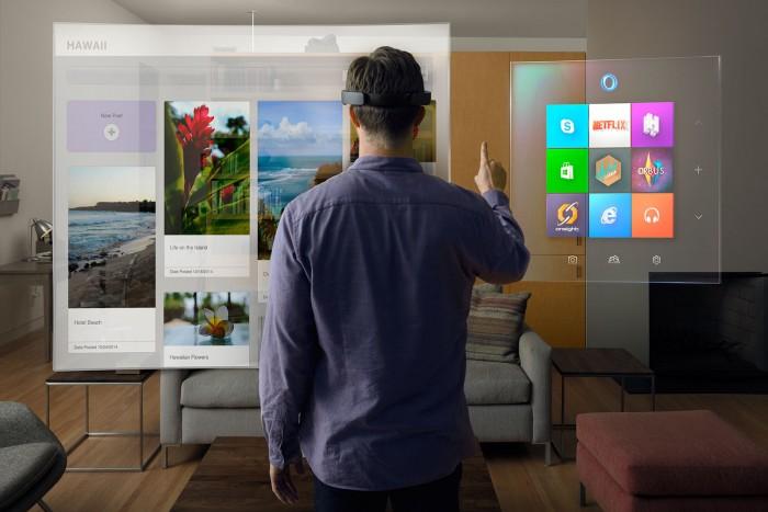 HoloLens, da Microsoft, é um projeto de realidade aumentada.