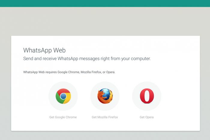 WhatsApp Web no Firefox, Chrome e Opera