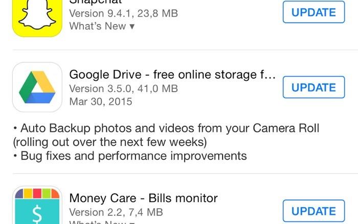 Google Drive para iPhone tem atualização para habilitar AutoBackup