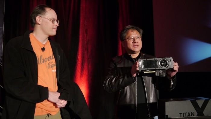 Tim Sweeney (Epica Games) e Jen-Hsun Huang
