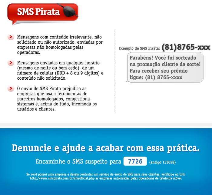 Como identificar um SMS pirata, de acordo com a Vivo