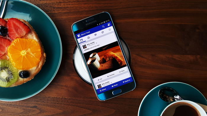 Galaxy S6 na cozinha