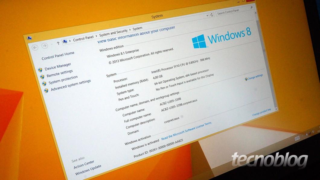 A versão brasileira sai de fábrica com Windows 10
