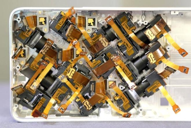 A matriz de câmeras