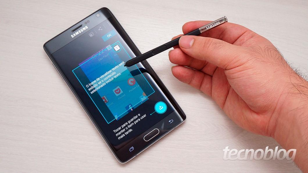 Review Galaxy Note Edge: o experimento com tela curva