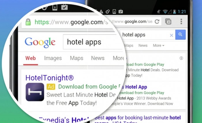 Anúncio Google para mobile