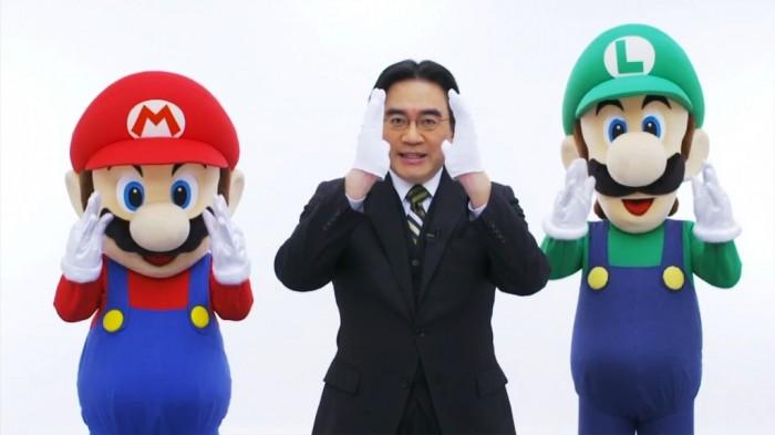 Satoru Iwata e seus funcionários