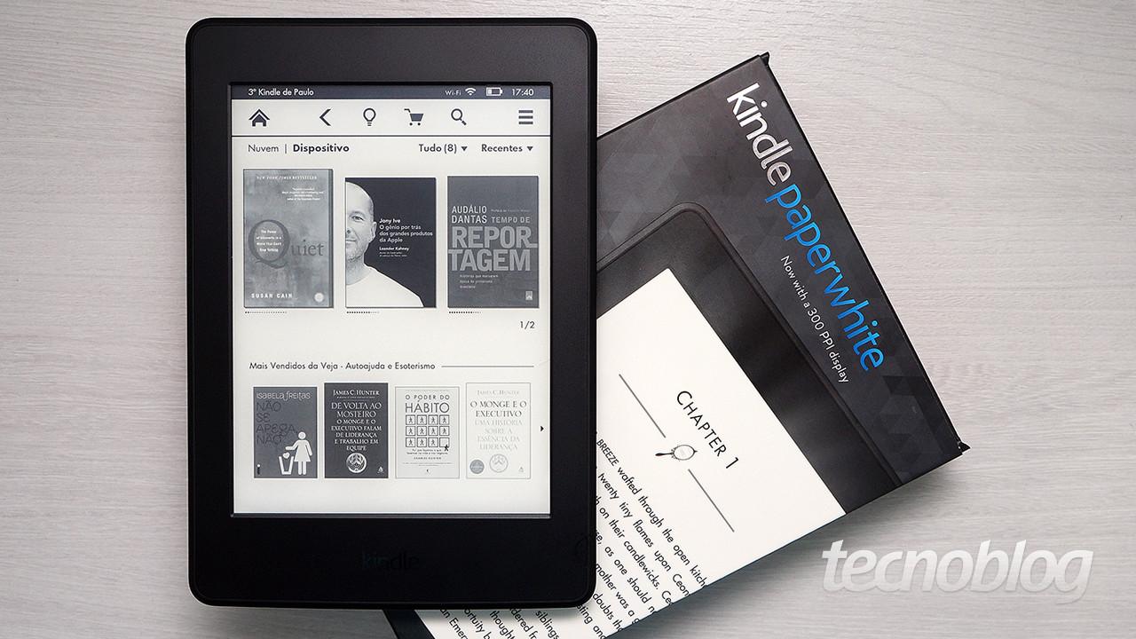 68dc3a1353343 Um ano depois de lançar a segunda geração do Kindle Paperwhite, a Amazon  está apresentando um novo modelo, com tela de alta definição e melhorias no  ...