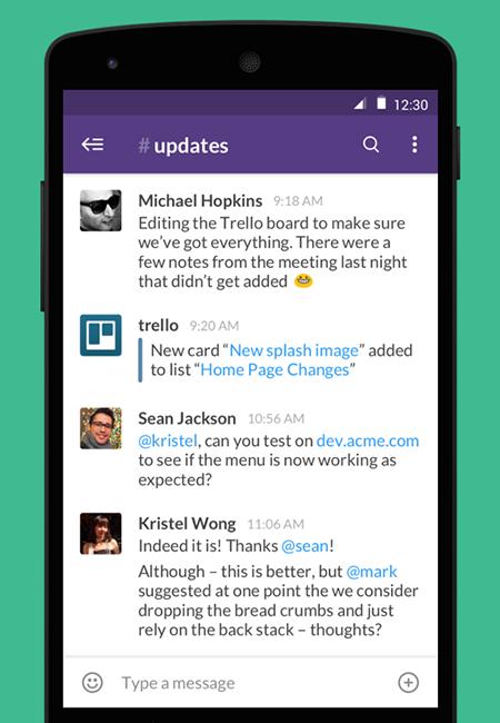 Aplicativo do Slack para Android segue o Material Design