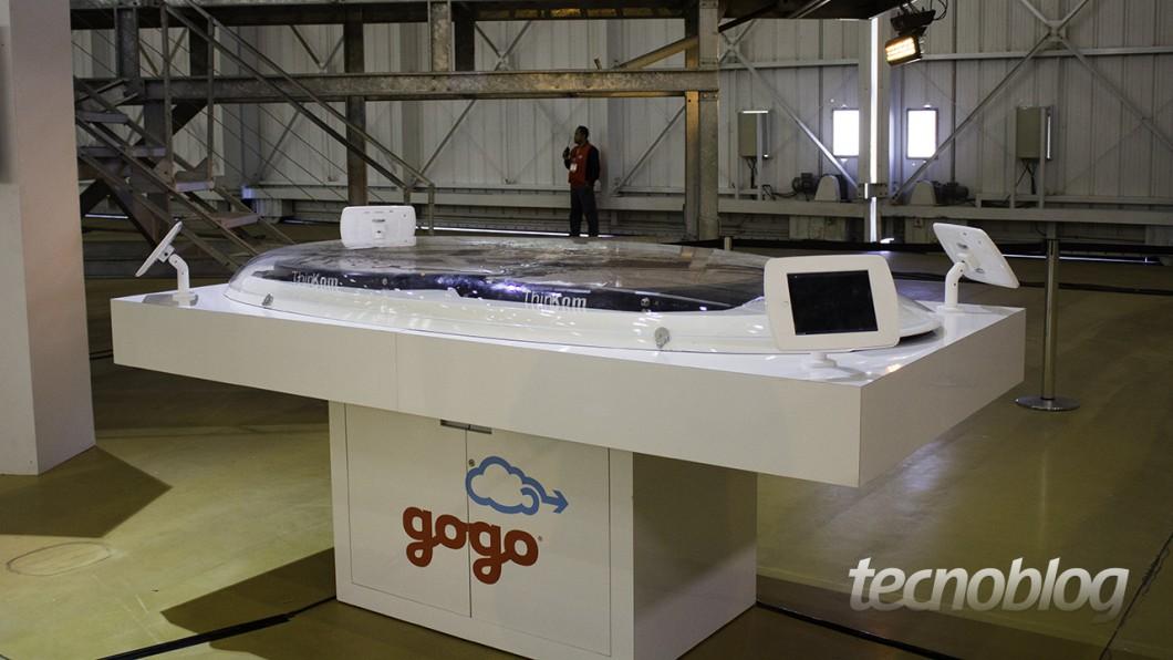 Essa é a antena da Gogo que comunica o avião com o mundo