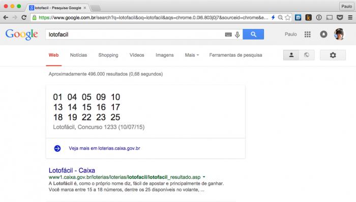 Google - Lotofácil