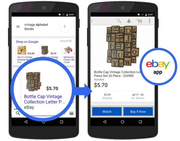 Google - compra em app