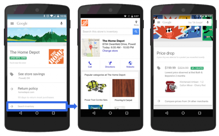 Google Now - anúncio