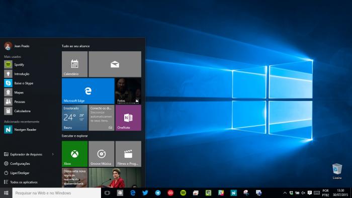 Esse é o Windows 10. Conhece?