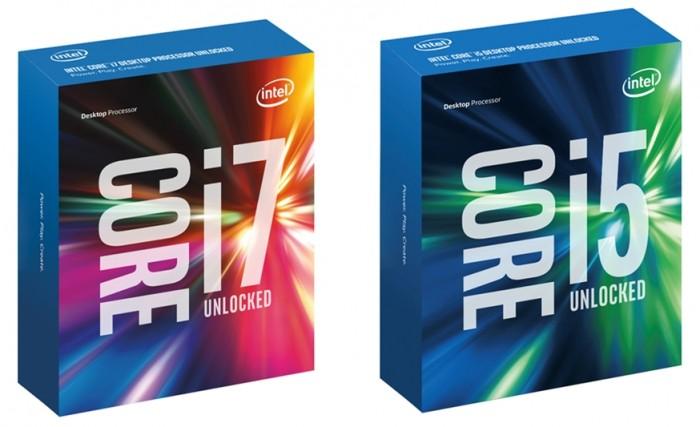 Core i5-6600K e Core i7-6700K
