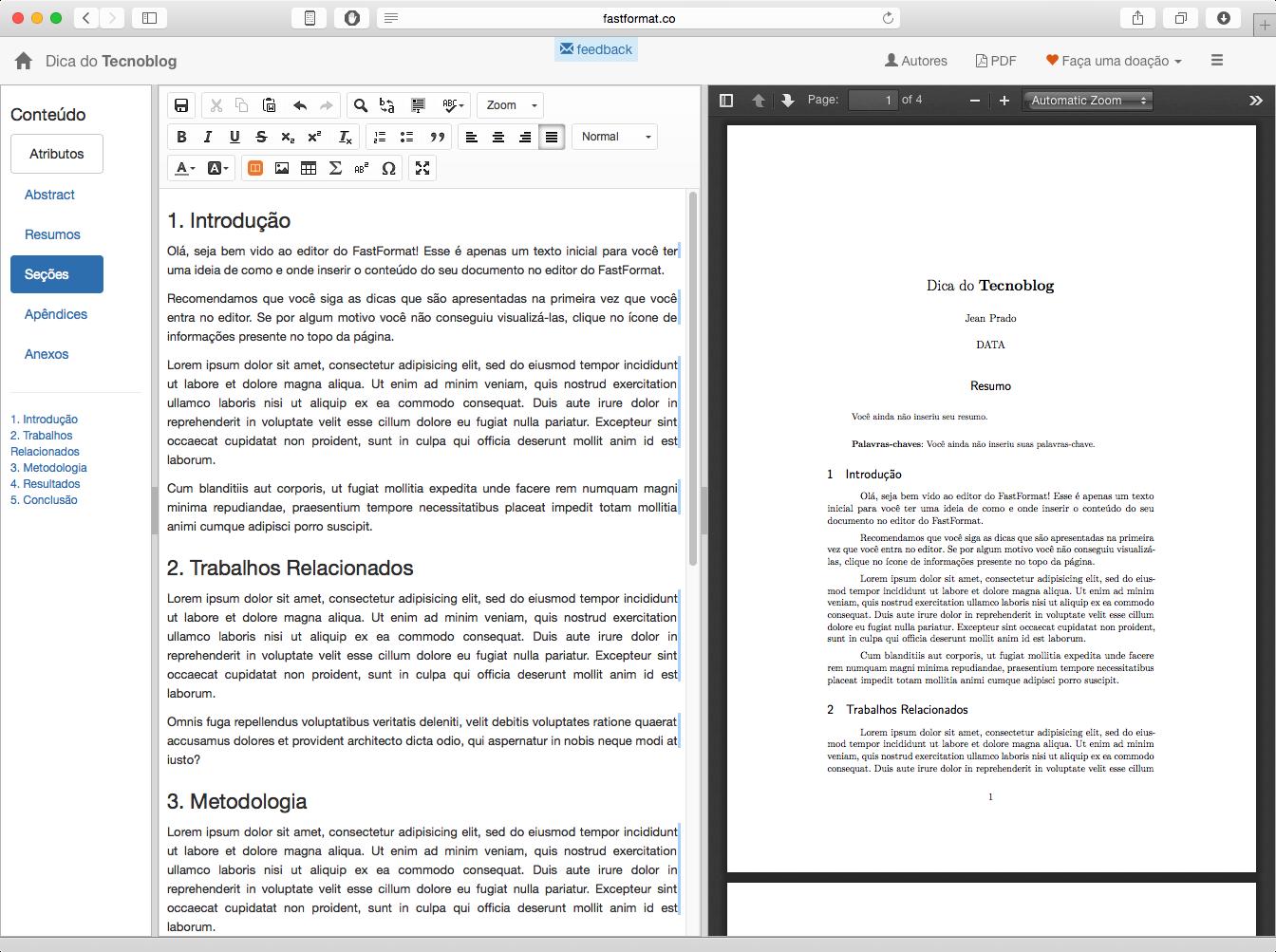 Como padronizar seus trabalhos acadêmicos nas normas ABNT automaticamente - Tecnoblog