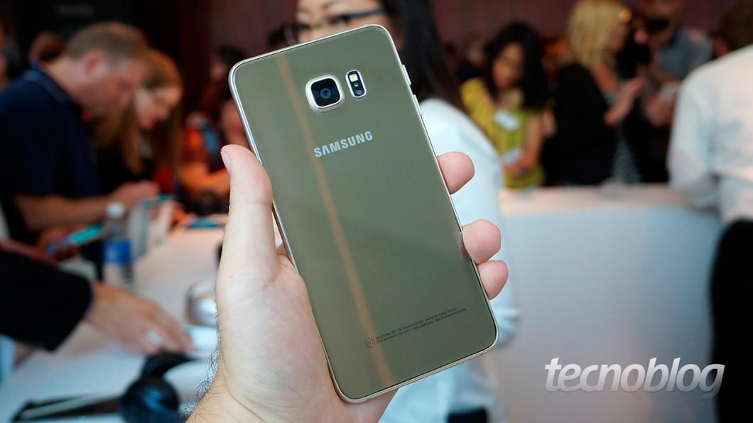 Galaxy S6 Edge+: traseira de vidro