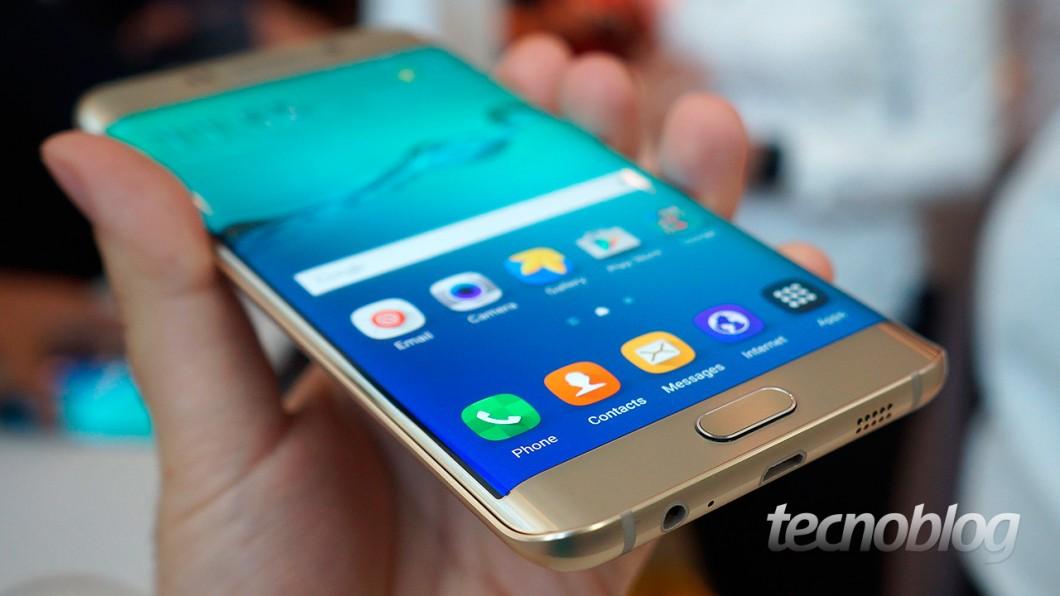 Galaxy S6 Edge+: com a tela curvada, a largura fica em 75,8 mm