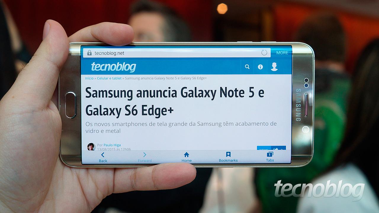 Galaxy Note 5 e S6 Edge+: uma olhada de perto nos smartphones de tela grande da Samsung - Tecnoblog