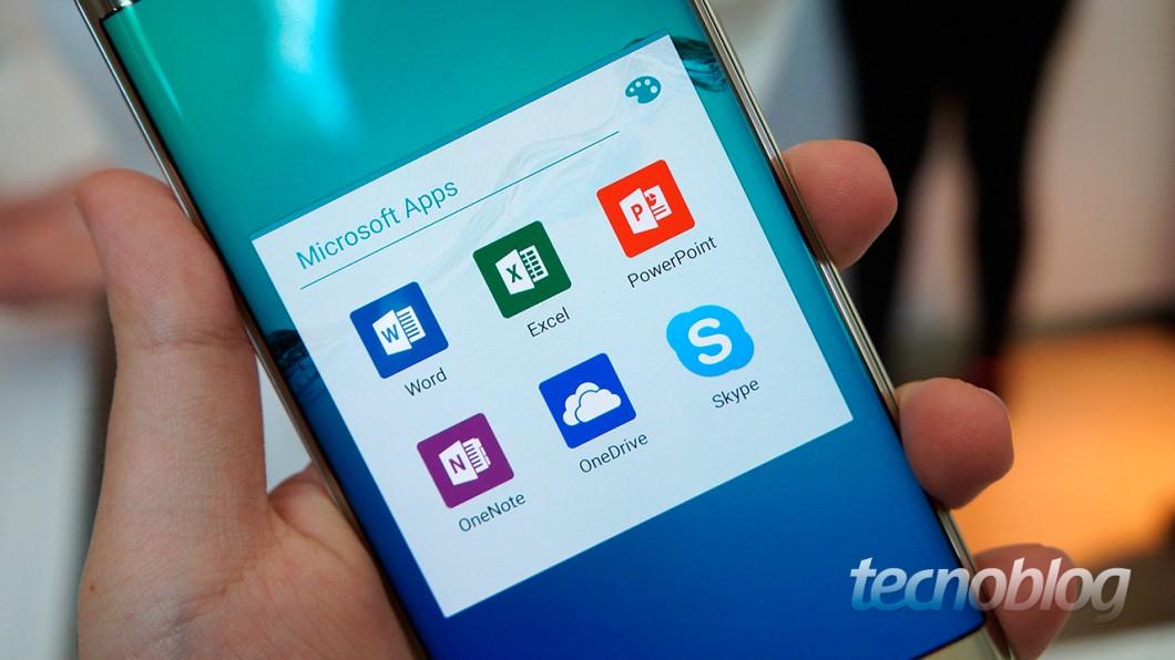 Galaxy S6 Edge+: aplicativos da Microsoft pré-instalados (e 100 GB de espaço no OneDrive)