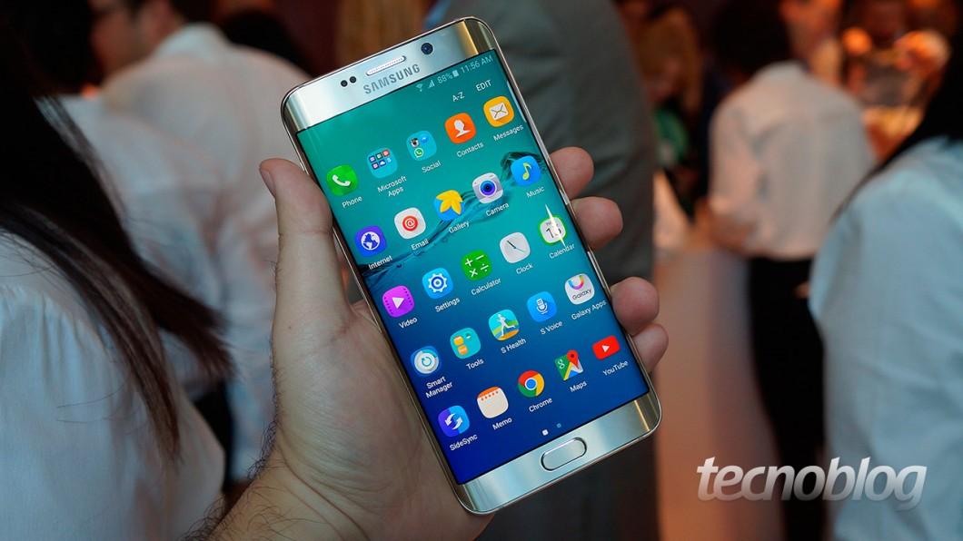 Galaxy S6 Edge+: ainda é um smartphone de 5,7 polegadas, mas a pegada continua ok