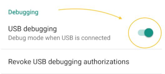 USB debugging Android