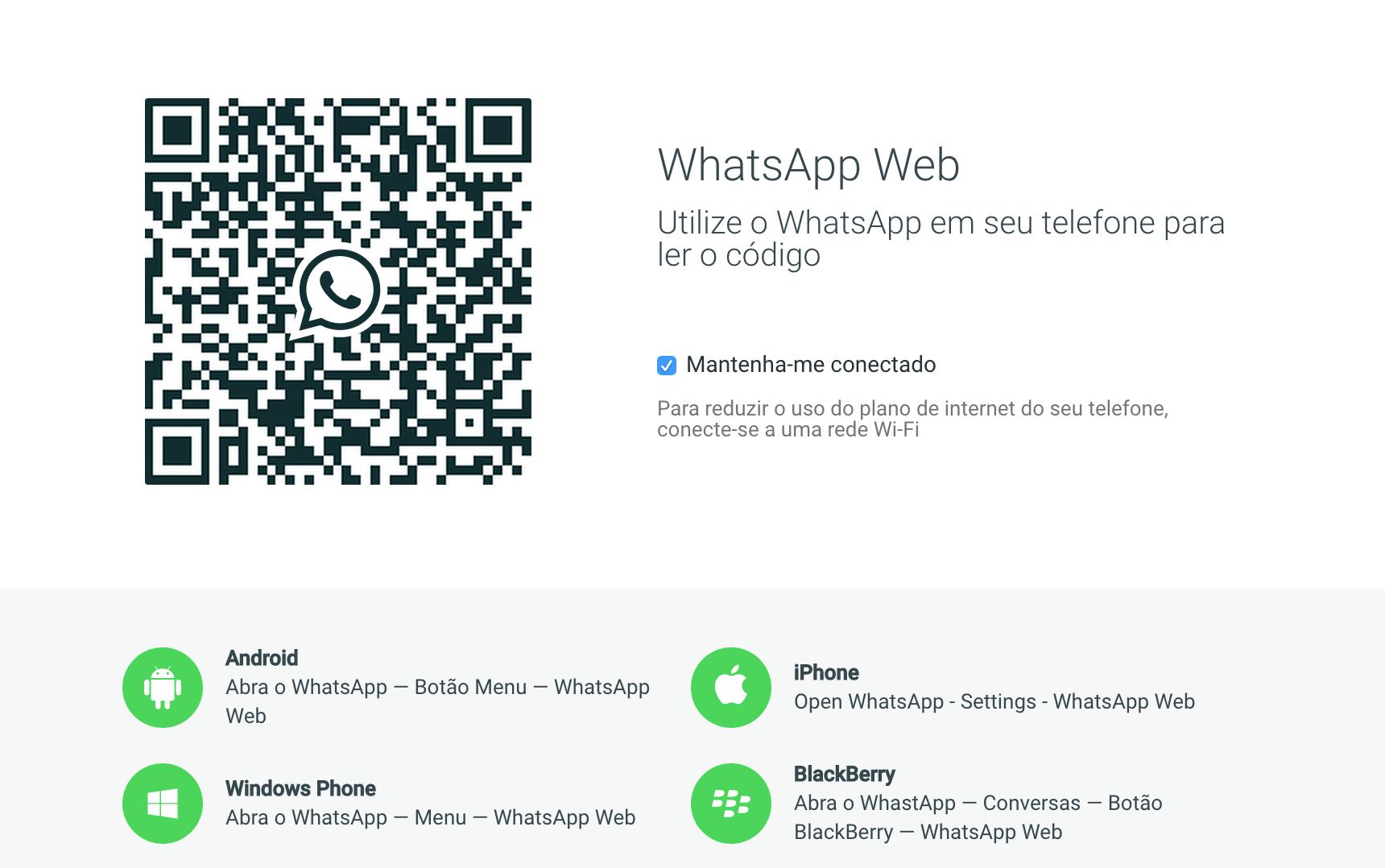 WhatsApp Web: como escanear o código QR no celular – Aplicativos