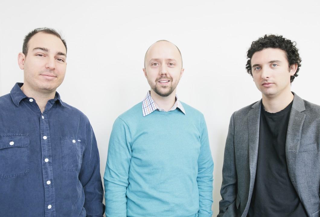 Da esquerda para a direita: Joshua Landy, Richard Penner e Gregory Levey, fundadores do Figure 1.
