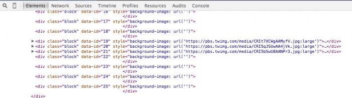 Esse era o código-fonte do site depois do vazamento.