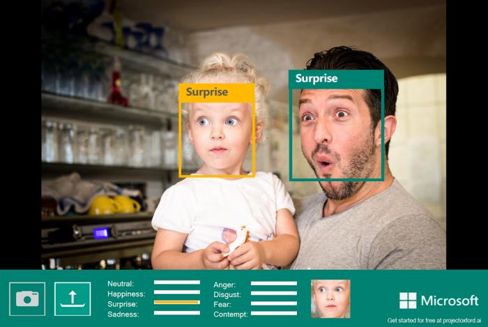 Microsoft - reconhecimento de emoções