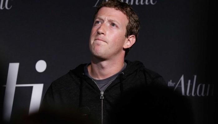 Zuckerberg tenso