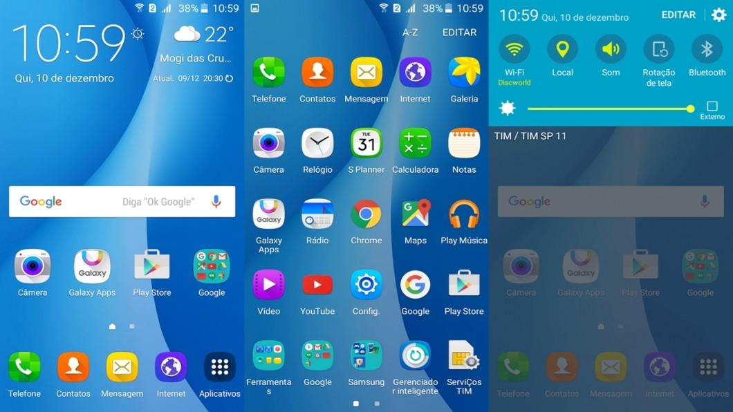Samsung Galaxy On7 — TouchWiz