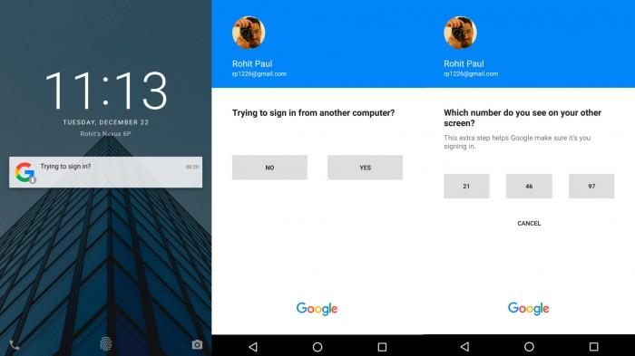 google-senha-android