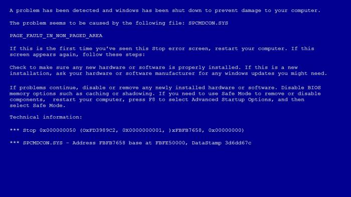 Tela azul no Windows 7 (Imagem: Reprodução)