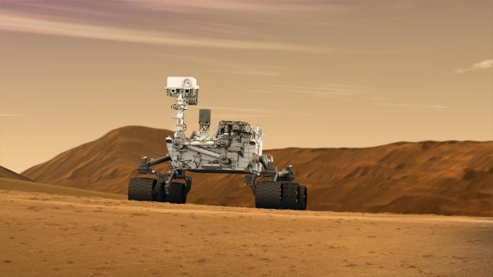 Mars_Rover_Curiosity_in_Artist's_Concept,_Wide