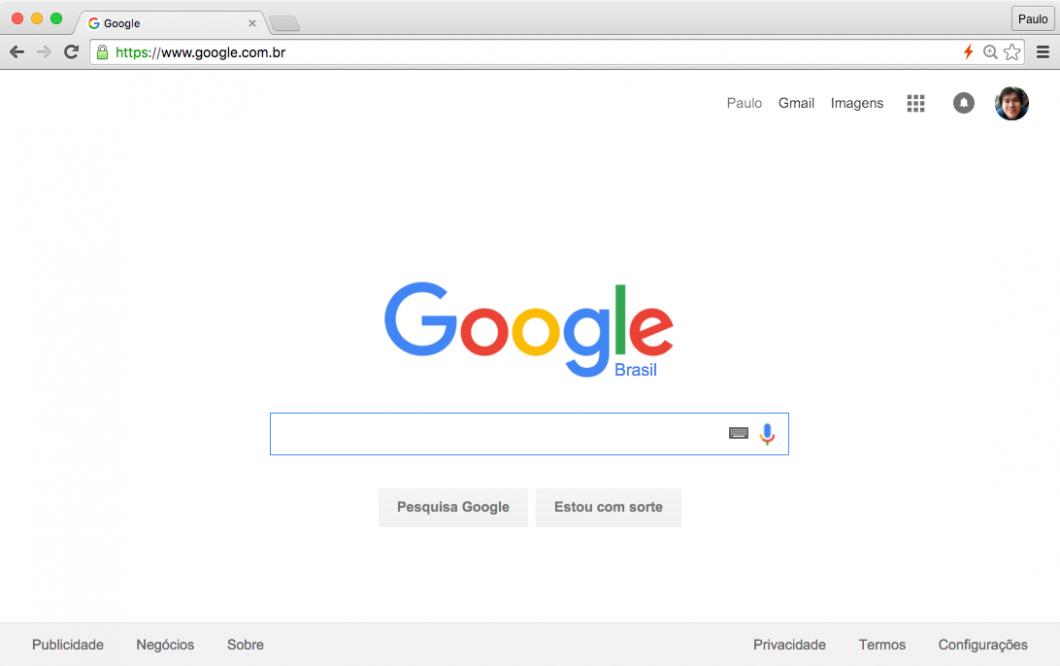 Com o Chrome, a tela passou a ser dominada pelos sites, não pelo navegador