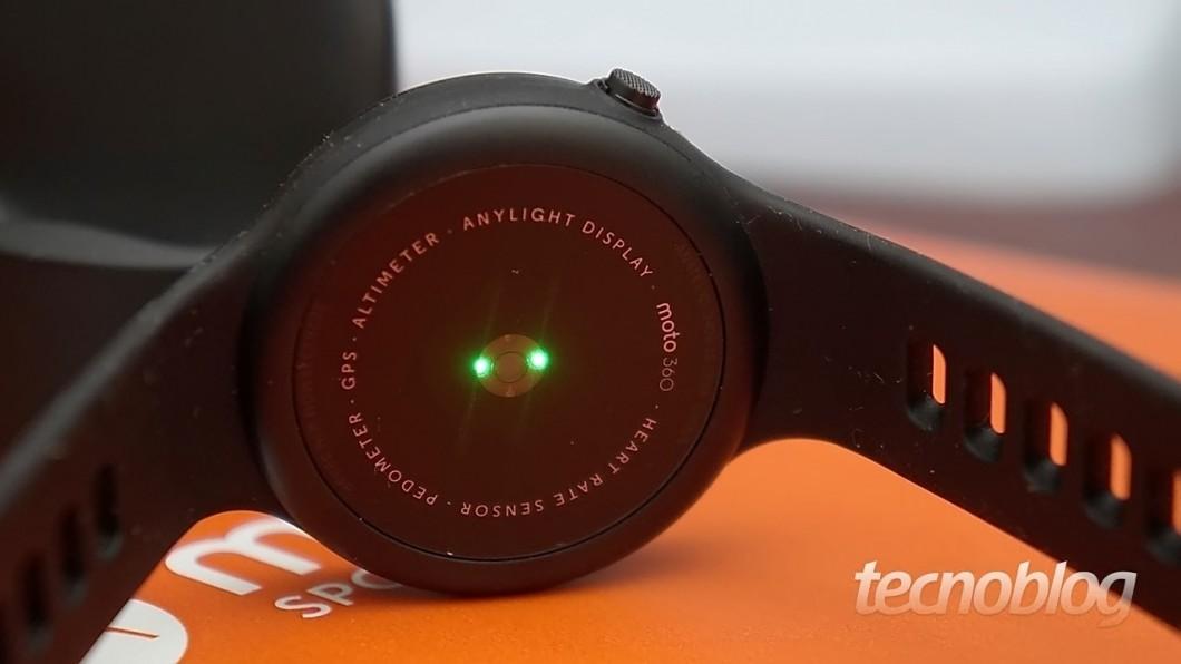 Sensor óptico de frequência cardíaca
