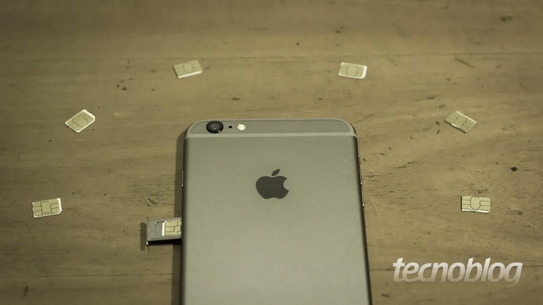 iPhone e chips de celular