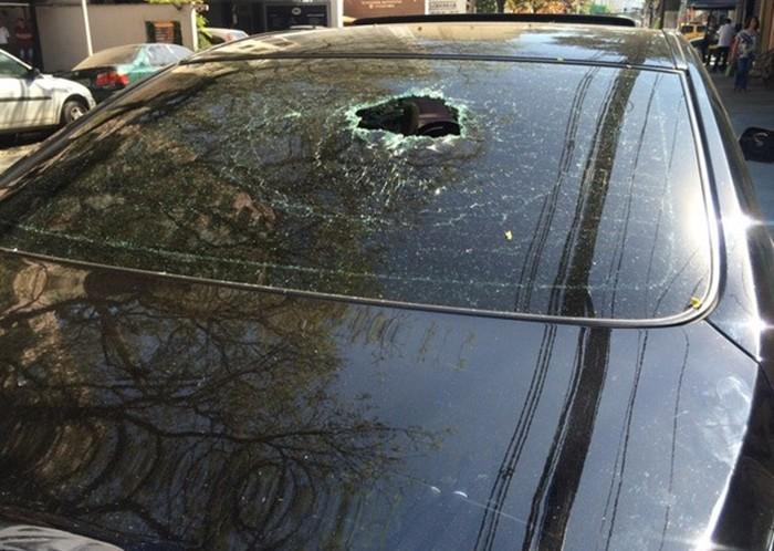 Uber - carro danificado