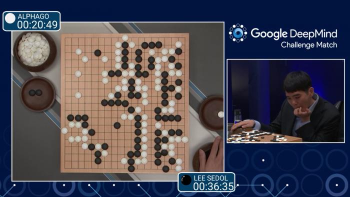 Primeira partida de Go, em que Lee Sedol perdeu.