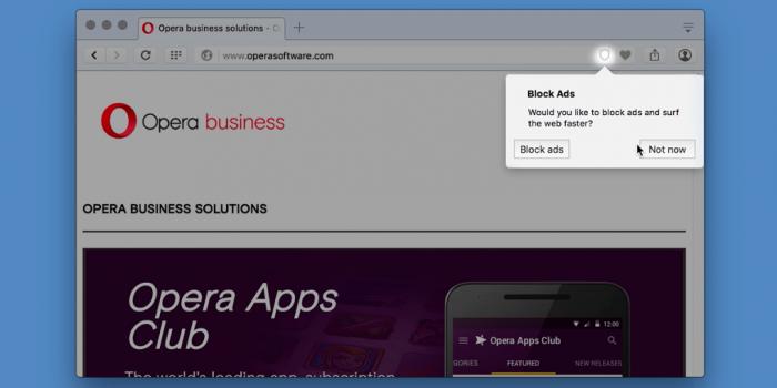 Opera - bloqueio de anúncio
