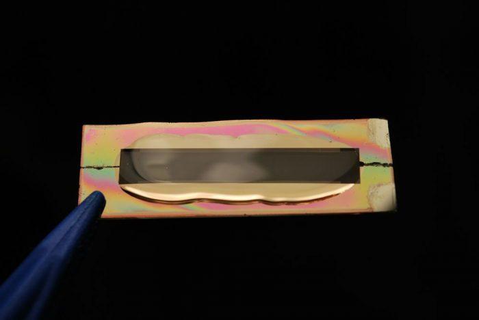Gel em torno dos nanofios de ouro