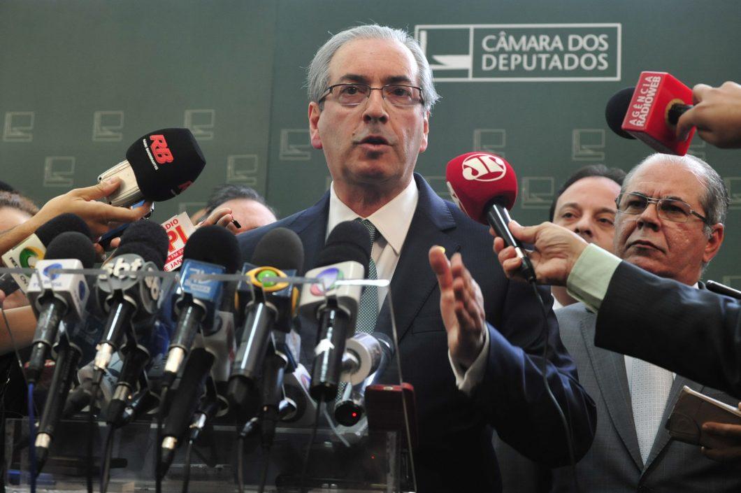 Presidente da Câmara, Eduardo Cunha (PMDB-RJ), anunciando a criação da CPI de Crimes Cibernéticos em julho de 2015.