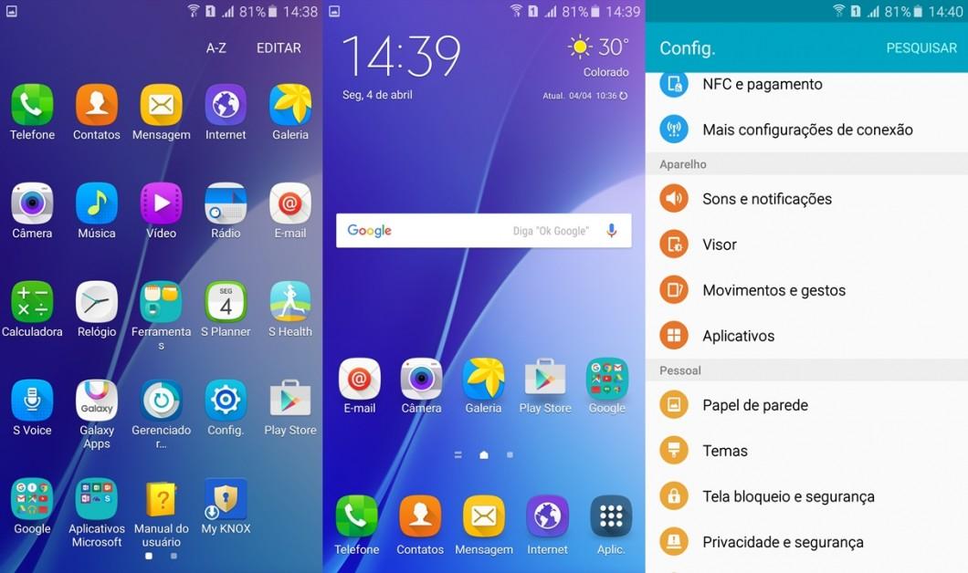 Samsung Galaxy A7 2016 — TouchWiz