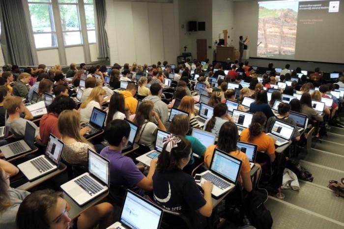 Laptops em sala de aula